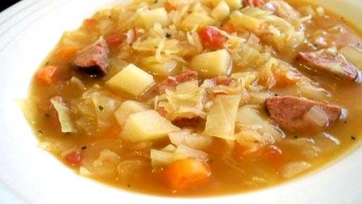 Cabbage Sausage and Potato Soup